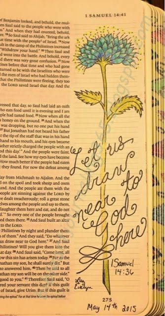 Easy Bible Art Journaling Journey: 1 Samuel 14:36 (May 14th)