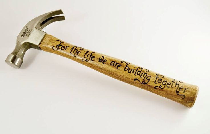 """Personalised hammer, anniversary gift """"For the life we are building together"""", Anniversary gift, Gift for him, husband gift, fiance (HM01) by CoveCalligraphy on Etsy https://www.etsy.com/listing/224000897/personalised-hammer-anniversary-gift-for"""