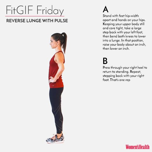 This Lunge Variation Will Set Your Legs On Fire  http://www.womenshealthmag.com/fitness/fitgif-friday-reverse-lunge-with-plank