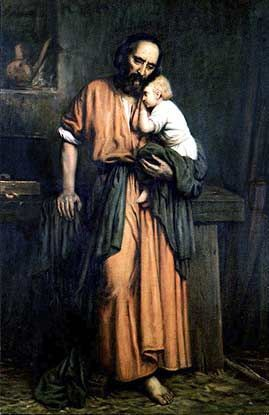 Saint Joseph and the Christ Child.