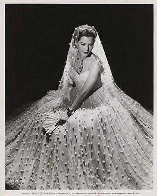 Maria Montez. classic vintage bride