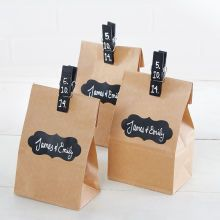Chalk: Gift Bag with Chalkboard Clip & Label