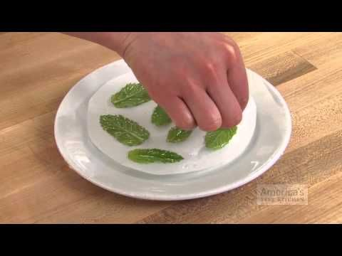 Super Quick Video Tips: How to Fry Herbs in the Microwave