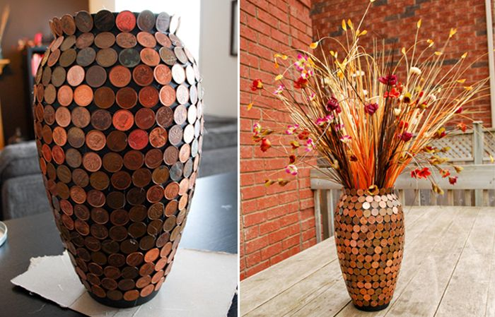 Diy flower vase idea from a simple yet striking vase to add a touch of beauty Diy home decor flower vase
