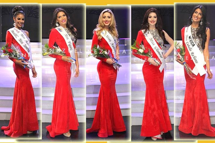 Special Award Winners of Miss Venezuela 2016
