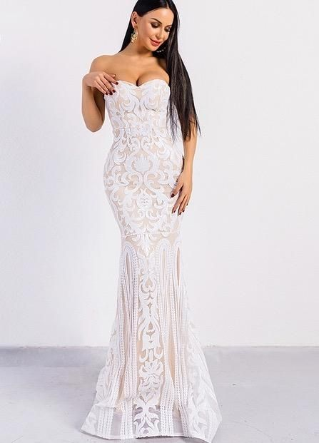38dc36b720 Emma gown in 2019 | Beach wedding | Sequin evening dresses, Backless ...