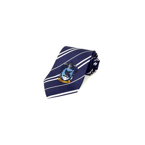 Harry Potter Ravenclaw Tie by Elope: WBshop.com - The Official Online... ($22) ❤ liked on Polyvore featuring accessories, harry potter, ravenclaw, ties, hogwarts and elope