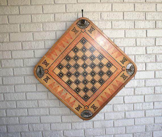 Carrom Board Wood Game Board//CARROM VIKING by TresorsJeAmour