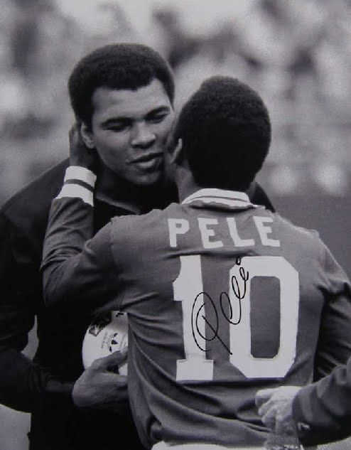 Sporting legends Pele and Muhammad Ali share FaceTime chat