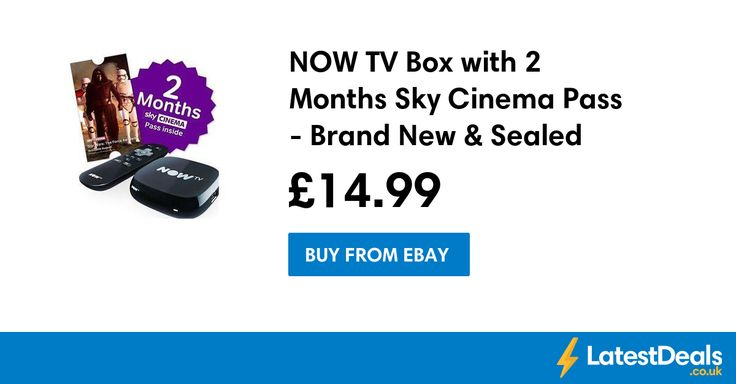 NOW TV Box with 2 Months Sky Cinema Pass - Brand New & Sealed, £14.99 at ebay