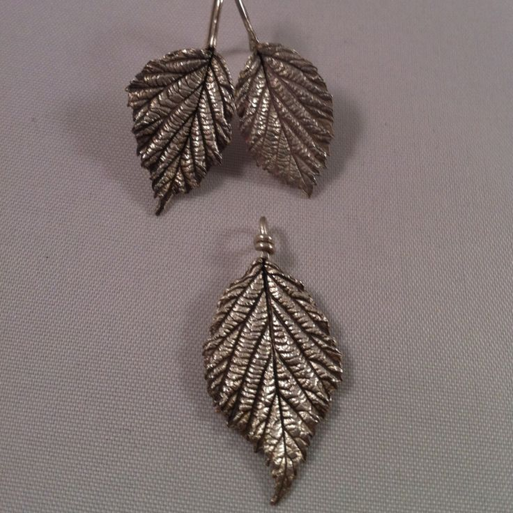Fine silver one of a kind necklace and earring set £60   #leaf #silver #craft #jewellery #forsale #wedding #gift http://pict.com/p/8r