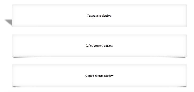 Perspective CSS3 Shadow Effect