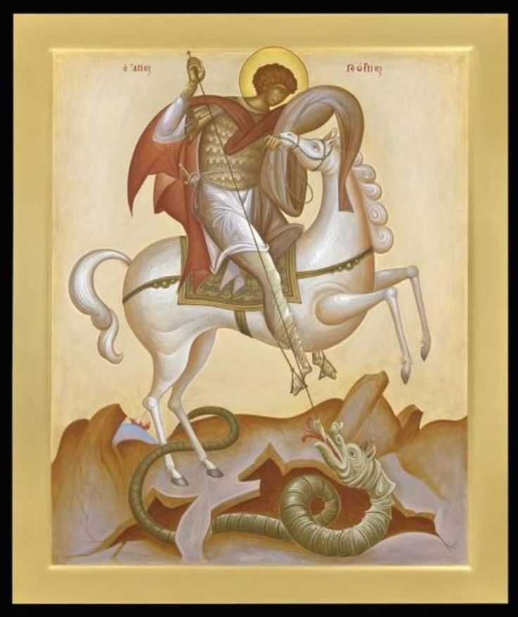 St George the Great Martyr - astride  /  Giorgos Kordis Paintings.
