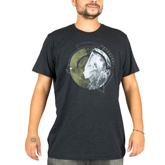 HEALING t-shirt homme imprimé formes géométriques, festival trance, mode  alternative, psywear