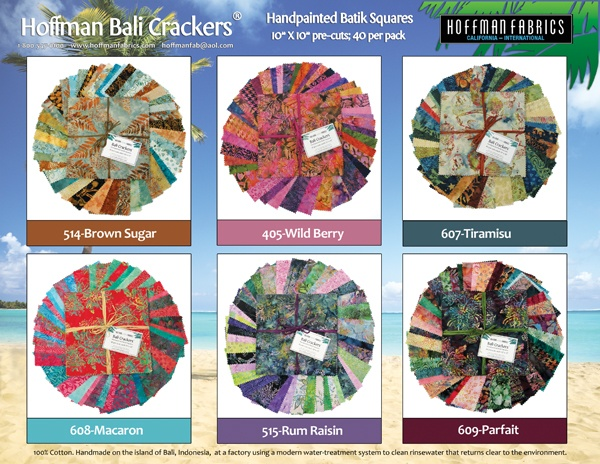 Hoffman Bali Crackers Each Come With 40 10x10 Inch Batiks