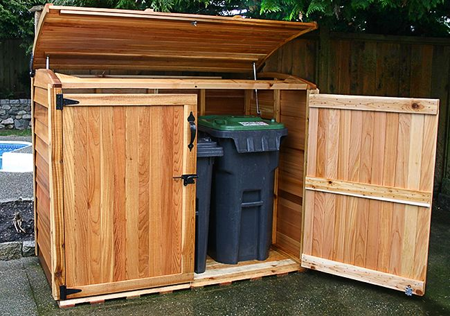outdoor garbage storage 17 best ideas about garbage can shed on 1292