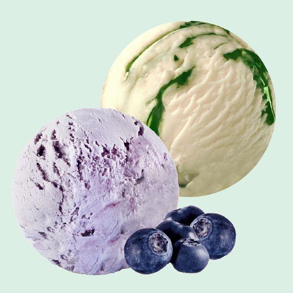 Kevään jäätelö uutuusmaut Vanilja-Päärynä laktoositon ja Mustikka alkaen 2,90 €. Spice Ice, E-taso.