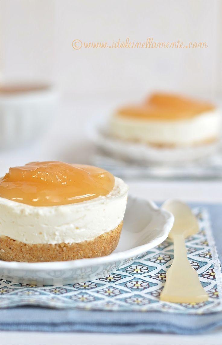 Cheesecake senza cottura con confettura di pere…versione mini