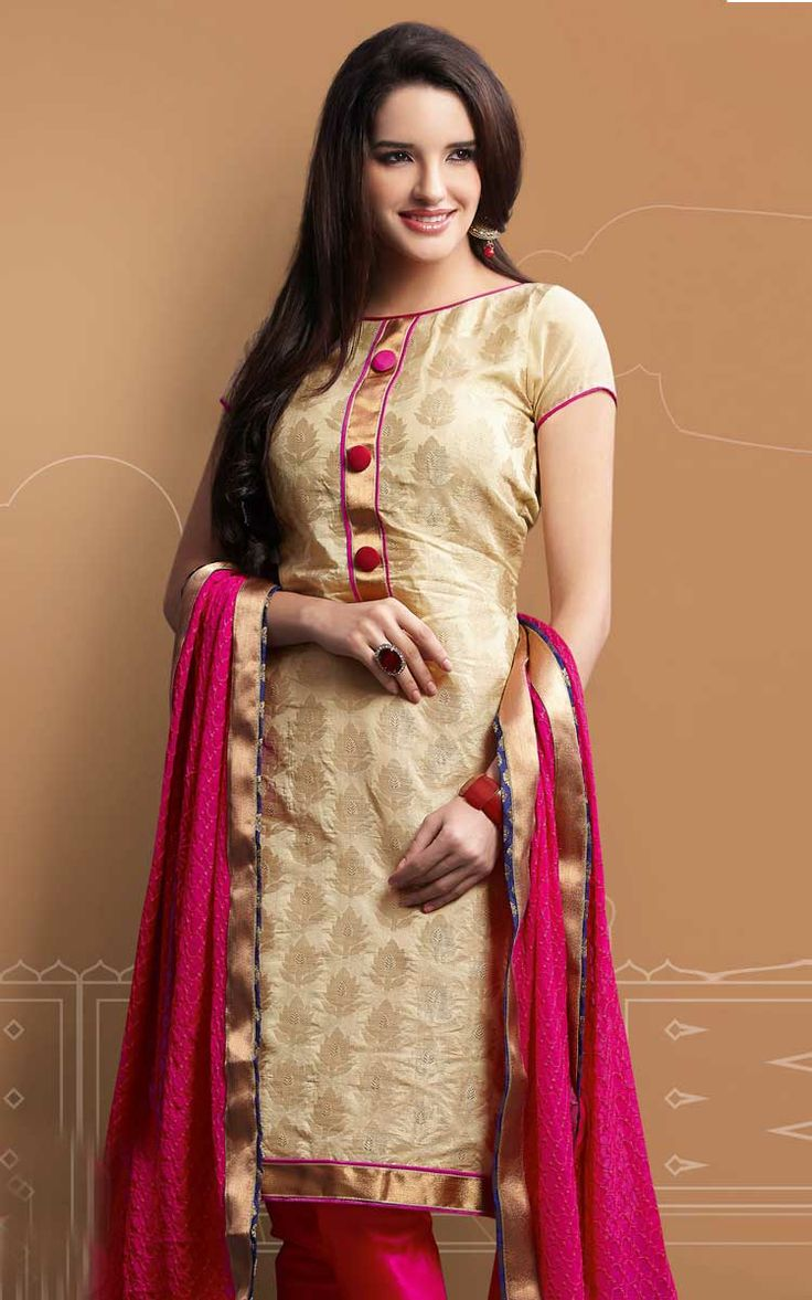 1000  images about Chanderi Silk Salwar Suits on Pinterest | Pink