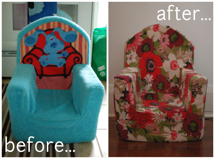 mint in the middle: toddler armchair makeover...