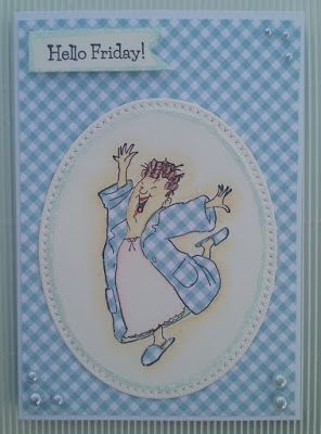 Art Impressions Rubber Stamps: Ai Spinners: Robe Spinner stamp set (4677) and matching Robe Spinner dies (4696) ... handmade card.