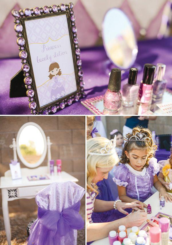 Purple Sofia the First Princess Party