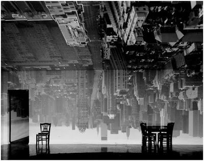 Abelardo Morell, Camera Obscura Image of Manhattan View Looking South in Large Room, 1996