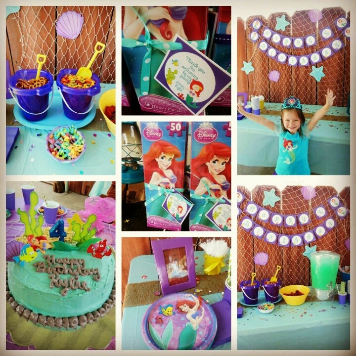 Little Mermaid themed party