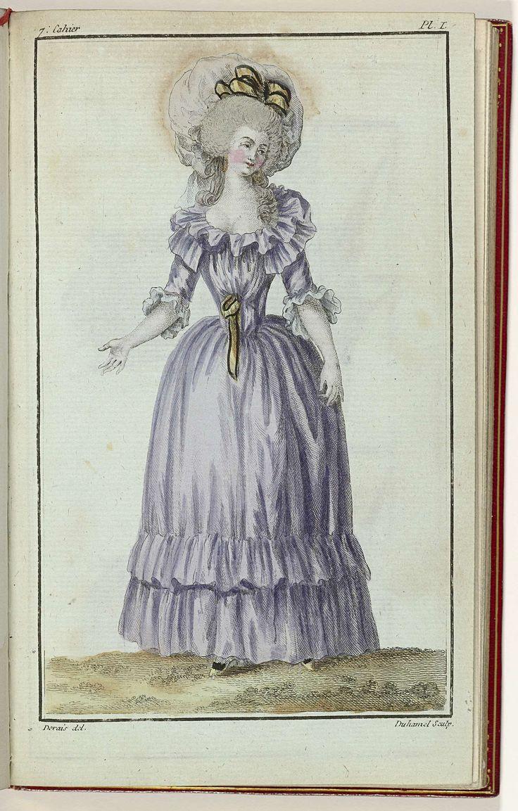 Cabinet des Modes ou les Modes Nouvelles, 15 Février 1786, 7e cahier, pl. I, A.B. Duhamel, Desrais, Buisson, 1786