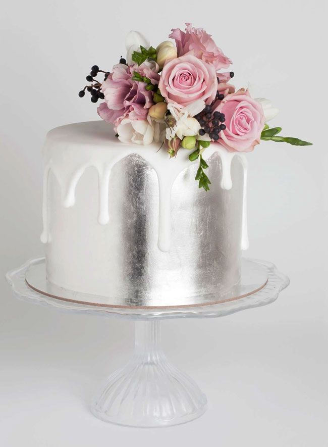 how to make silver drip cake