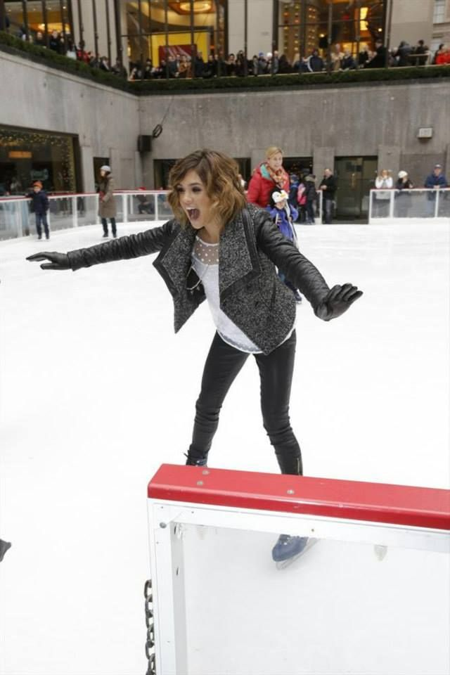 """ABC FAMILY - 12/8/13 - Stars from ABC Family celebrate the network's 25 DAYS OF CHRISTMAS """"Winter Wonderland"""" event with ice skating at Rockefeller Center in New York City. (ABC FAMILY/ Heidi Gutman) NICOLE GALE ANDERSON ©2013 DISNEY ENTERPRISES."""