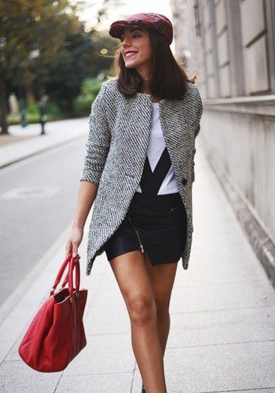 Manteau long femme tweed