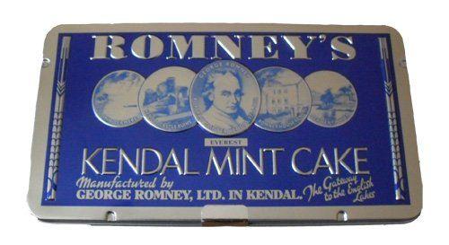 Romney's of Kendal - KENDAL MINT CAKE White bar in Souvenir Presentation Tin (LARGE) 170g/5.98oz
