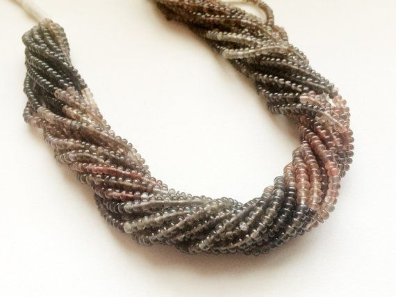 WHOLESALE 5 Strands Andalusite Plain Rondelle by gemsforjewels