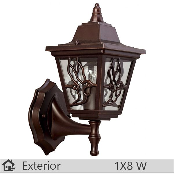 Aplica iluminat decorativ exterior Klausen, gama Boston, model nr1 Brun http://www.etbm.ro/