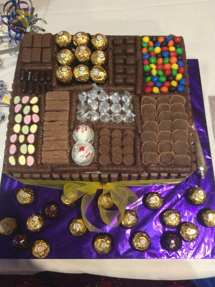 Rowan's 21st Chocolate Box Cake. It turned out fantastic