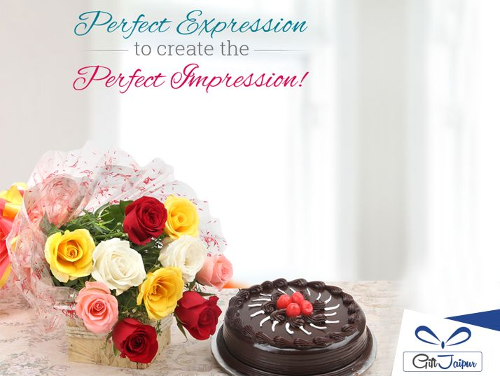 Add delight to your surprise,with beautiful #Flowers and #Chocolatecake - goo.gl/cPe58O