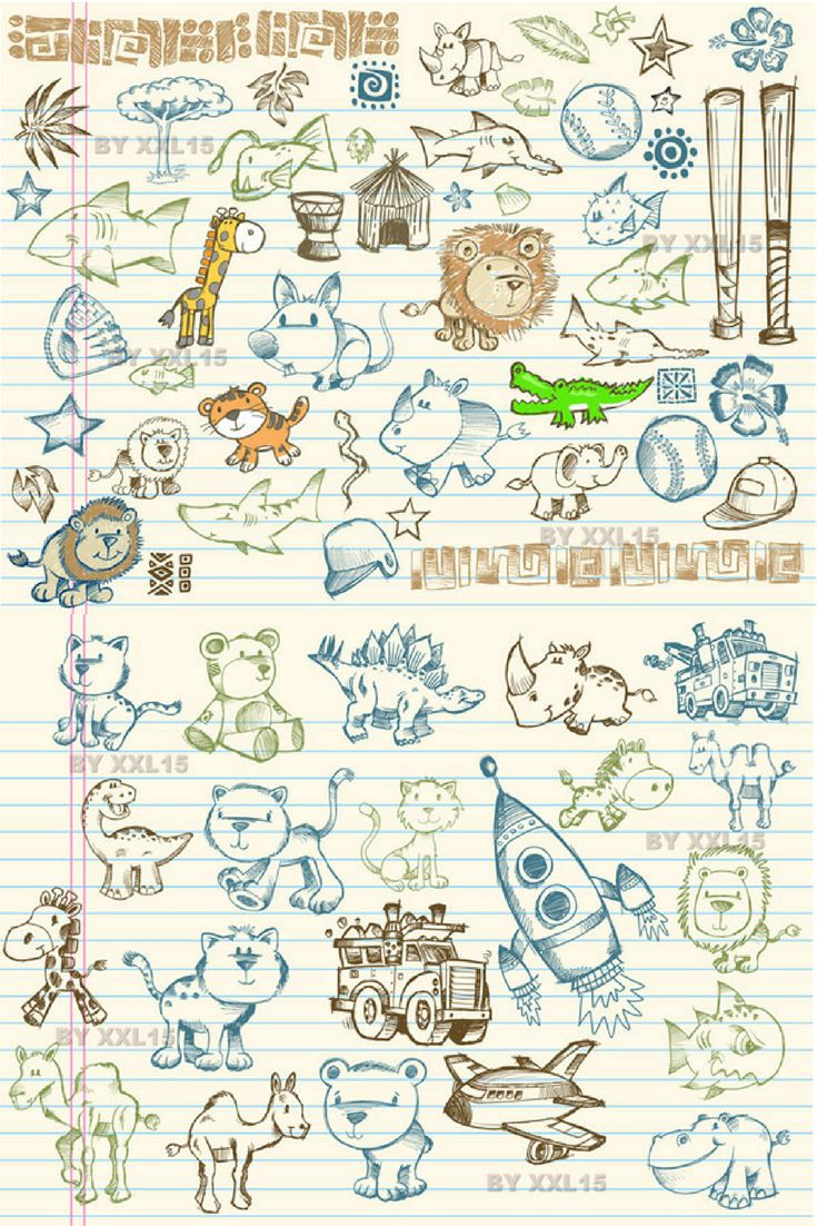 Cute graffiti pattern vector is free Vector pattern vector that you can download for free