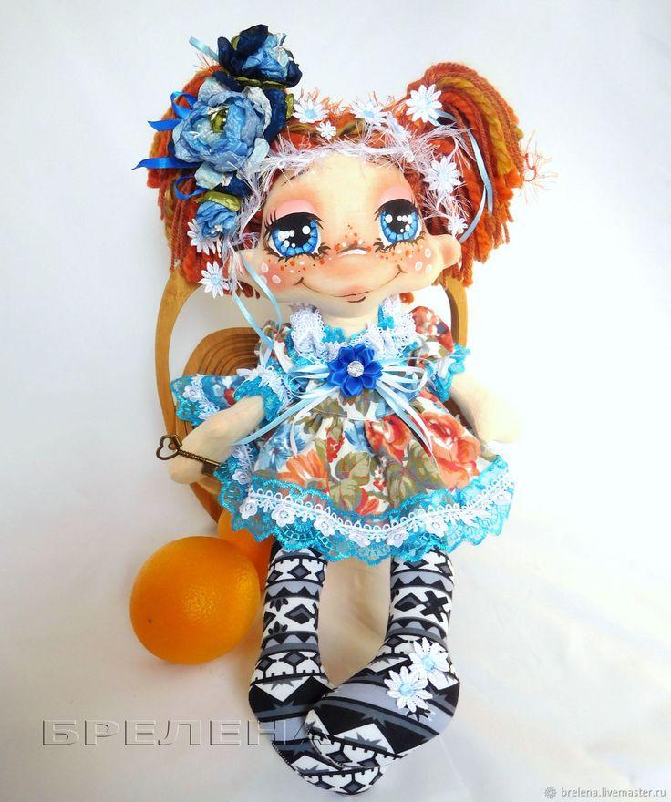 Купить Текстильная кукла Фея Зимних цветов. Интерьерная текстильная кукла в интернет магазине на Ярмарке Мастеров