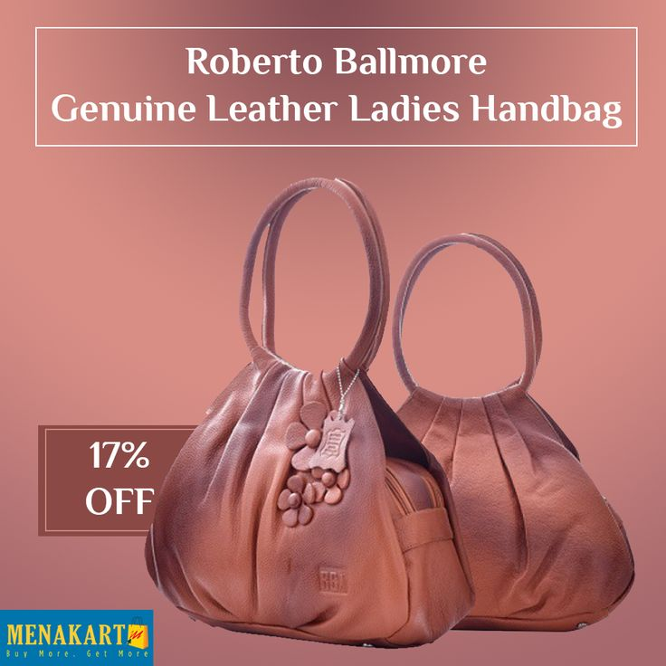 Shop for Roberto Ballmore Genuine Leather Ladies Handbag Online #Womens #Fashion #Handbags #online #Menakart #Leatherbags