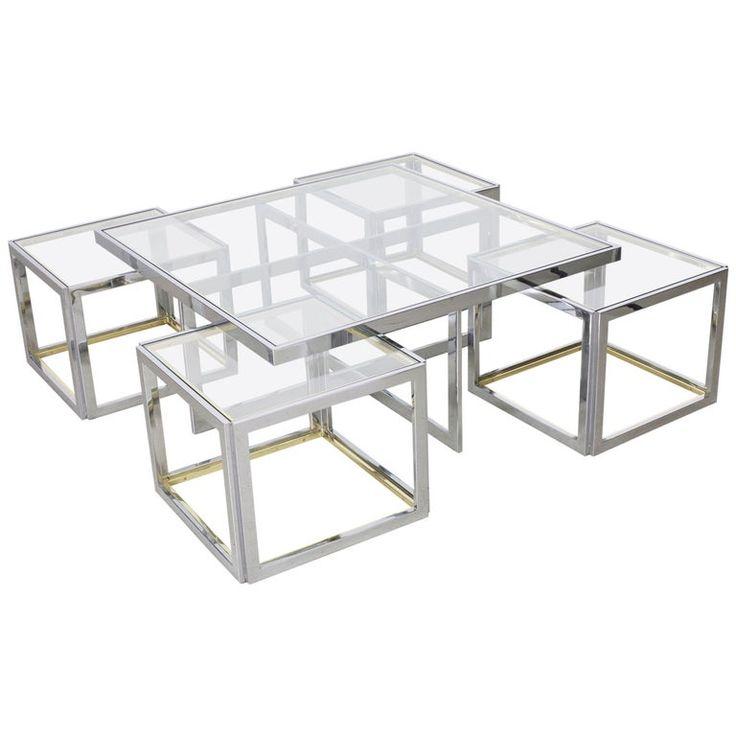 Contemporary Gilded Metal Glass Coffee Table Safavieh Com
