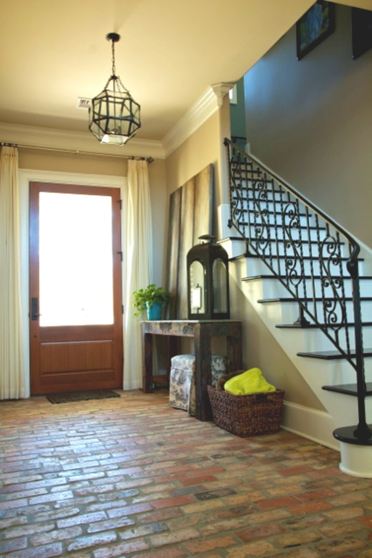 Foyer Entryway Flooring : Brick floors hmmm i kinda like this forever home