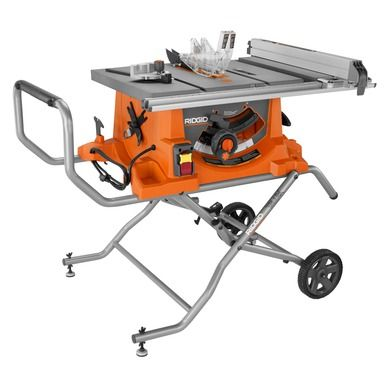 """Heavy Duty 10"""" Portable Table Saw With Stand"""