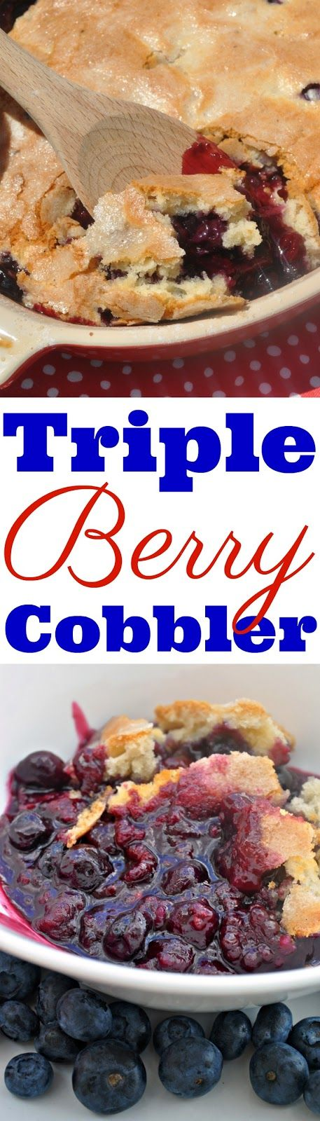 Food Hussy Recipe: Triple Berry Cobbler for the 4th of July!