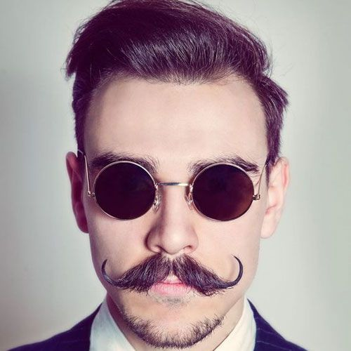 Curled Mustache + Chin Beard