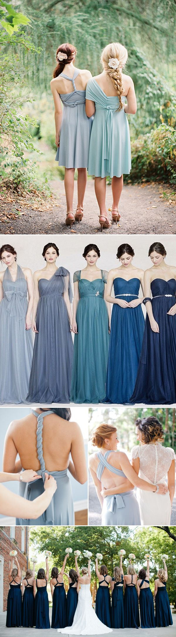 20 Chic and Stylish Convertible (Twist-Wrap) Bridesmaid Dresses - Blue dresses