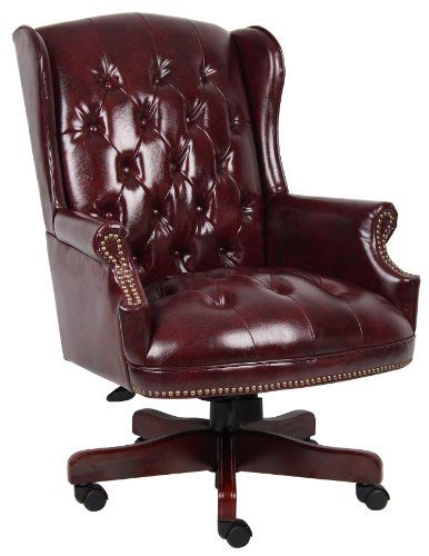 Boss Wingback Traditional Chair, Burgundy Boss Office Pro…