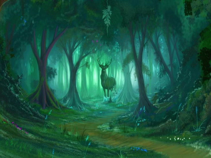 Forest Guardian Abstract Deer Fantastic Forests