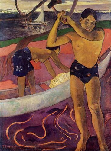 A man with axe - Paul GAUGUIN (1848-1903)