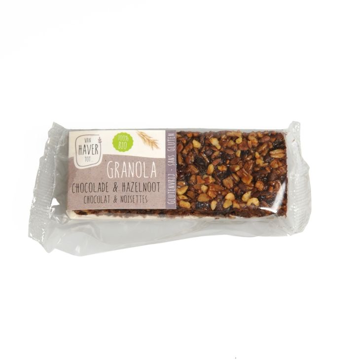 Granolareep, biologisch, chocolade & hazelnoot